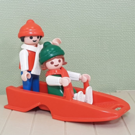 Playmobil 3327 kinderen met slee - jaren 80