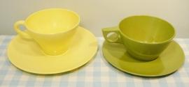 Mepal/Melamine kop & schotel - geel/groen