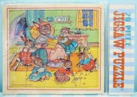 Mini puzzel Konijntjes - Mini jig saw puzzle