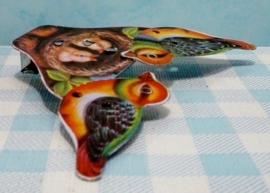 Blikken speelgoed vogeltjes - Tin Toy pecking birds