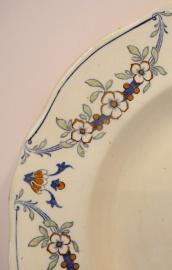 Oud Frans aardewerk bord K&G Quevilly Luneville