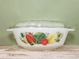 Pyrex England ovenschaal met deksel groenten - 16 cm