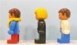 Lego Duplo vintage figuren - set 3 stuks
