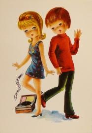Jongen en meisje dansend
