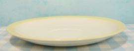 Maastricht P. Regout  - schotel pastel 17 cm geel