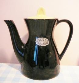 Vitage Kochfest servies koffiepotje - zwart / geel