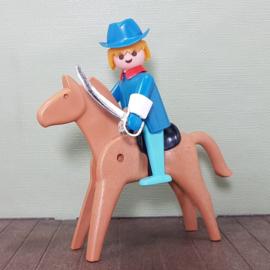 Vintage Playmobil 3353 soldaat te paard - Playmobil Western