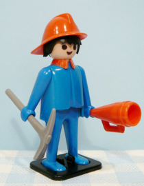 Vintage Playmobil figuur brandweerman - 1974