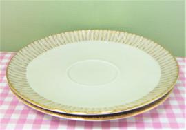Retro schotels met gouden rand - 15 cm