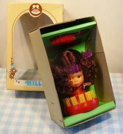 Vintage ARI popje Milly kappers-setje