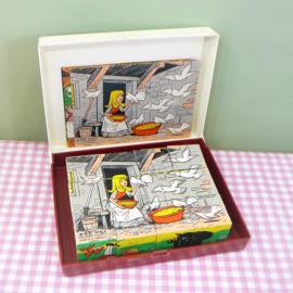 Vintage plastic blokken puzzel - E.G.E. Spiele W. Germany