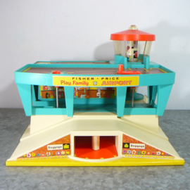 Vintage Fisher Price Play Family Airport no. 996