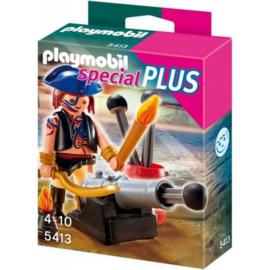 Playmobil Special Plus 5413 Piraat met kanon  - Playmobil piraten