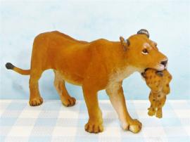Papo dieren figuur -  Leeuwin met welpje