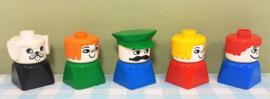 Lego Duplo vintage figuren - set 5 stuks