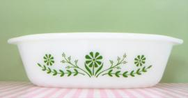 Glasbake U.S.A. Green Daisy ovenschaal - 25 cm