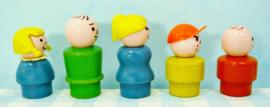 Fisher Price houten Play Family figuren set 5
