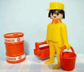 Vintage Playmobil figuur Texaco garage - 1979