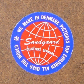 Sandgaard Denmark retro prentje jongen met klaprozen