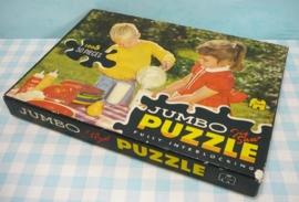 Jumbo puzzel 1005 Meisje en jongen met picknick
