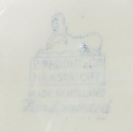Maastricht P. Regout Boerenbont - schotel 14,5 cm (2)