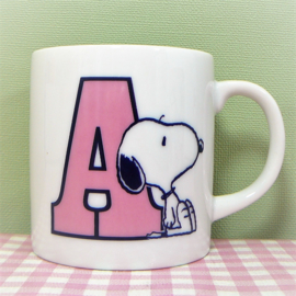 Vintage Snoopy mok - A is for Apple