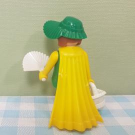 Vintage Playmobil figuur - dame met waaier