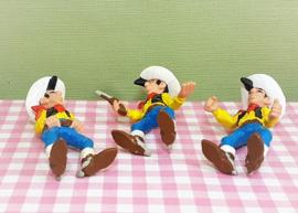 Vintage Schleich figuur Lucky Luke set 3 - Morris Dargaud 1984