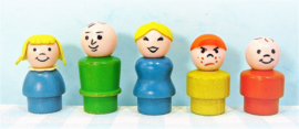 Fisher Price houten Play Family figuren set 5