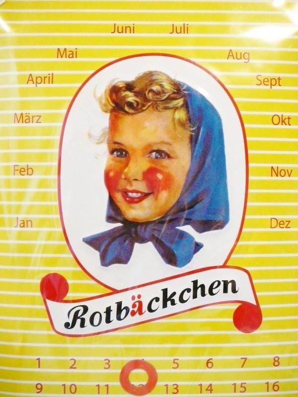 Roodkapje `Rotbäckchen` blikken kalender