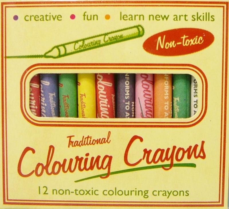 Pakje met 12 waskrijtjes - Colouring Crayons