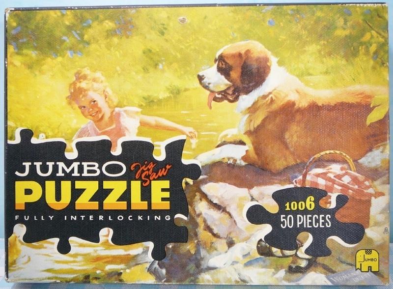 Jumbo puzzel 1006 Meisje met hond en picknick