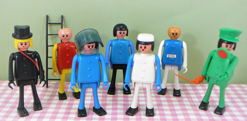 Vintage set Playbig figuren - nep Playmobil jaren 70/80