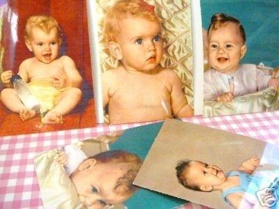 Ansichtkaarten Baby`s jaren 50 set 5 stuks