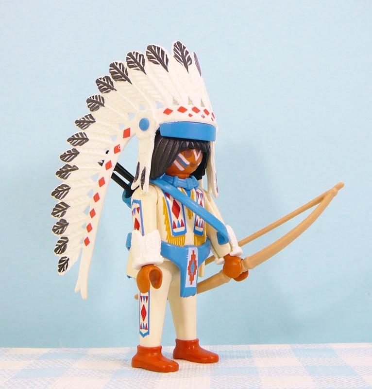 Playmobil Indianen opperhoofd  2  - Playmobil Western