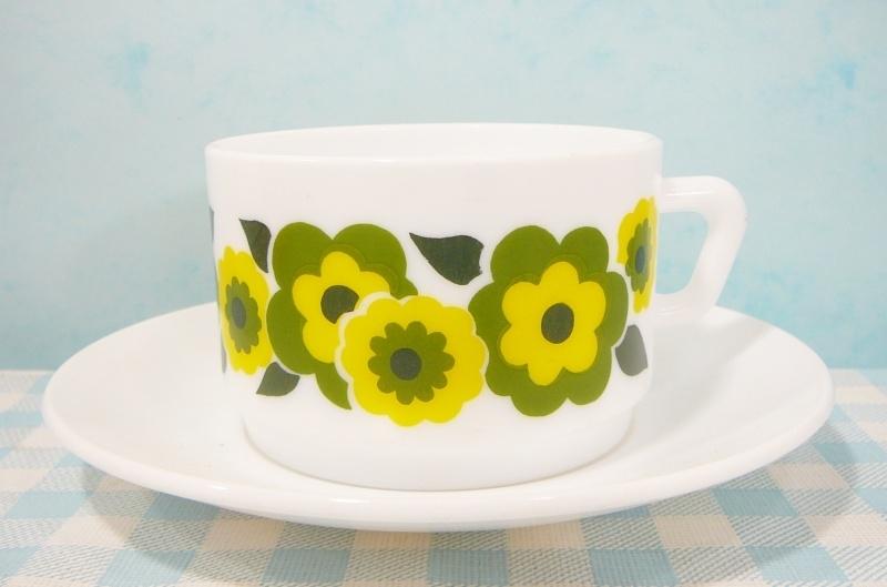 Arcopal France Lotus - grote kop & schotel Groen/geel