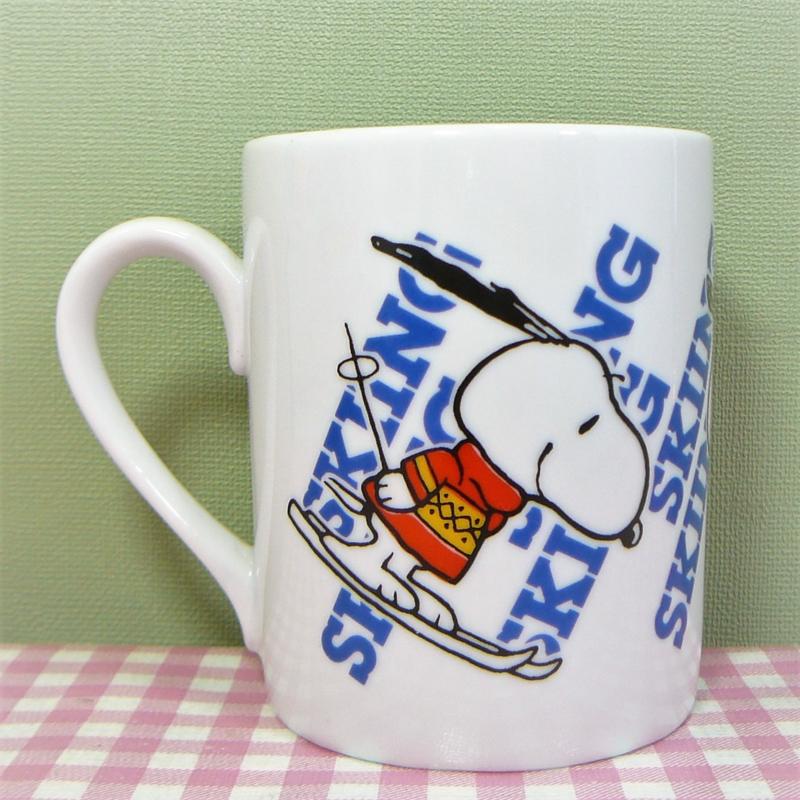 Vintage Snoopy mok Skiing - Harmonia Spain