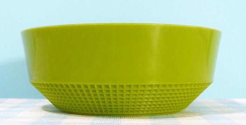 Plastic retro schaaltje - groen