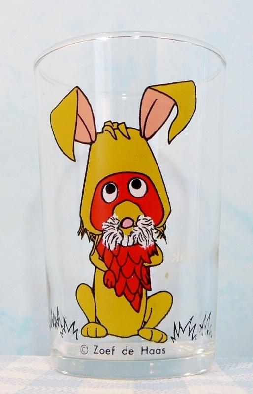 Fabeltjeskrant glas Zoef de Haas - Raak jaren 70