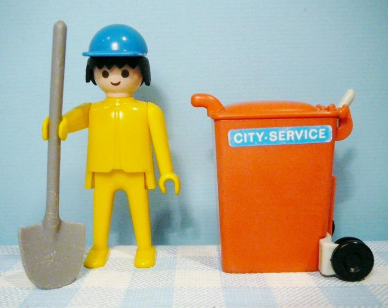 Vintage Playmobil figuur vuilnisman - 1978