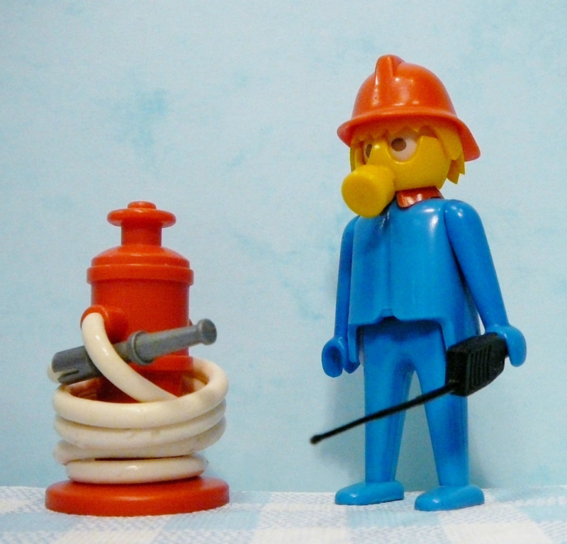 Vintage Playmobil set no. 3367 brandweer - 1974