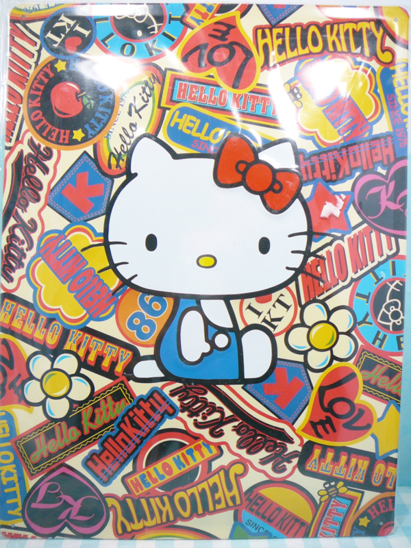 Hello Kitty poster metaal - Sanrio 2005