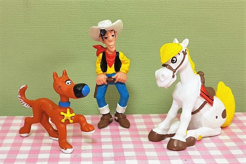 Vintage Schleich figuren Lucky Luke - Morris Dargaud 1984