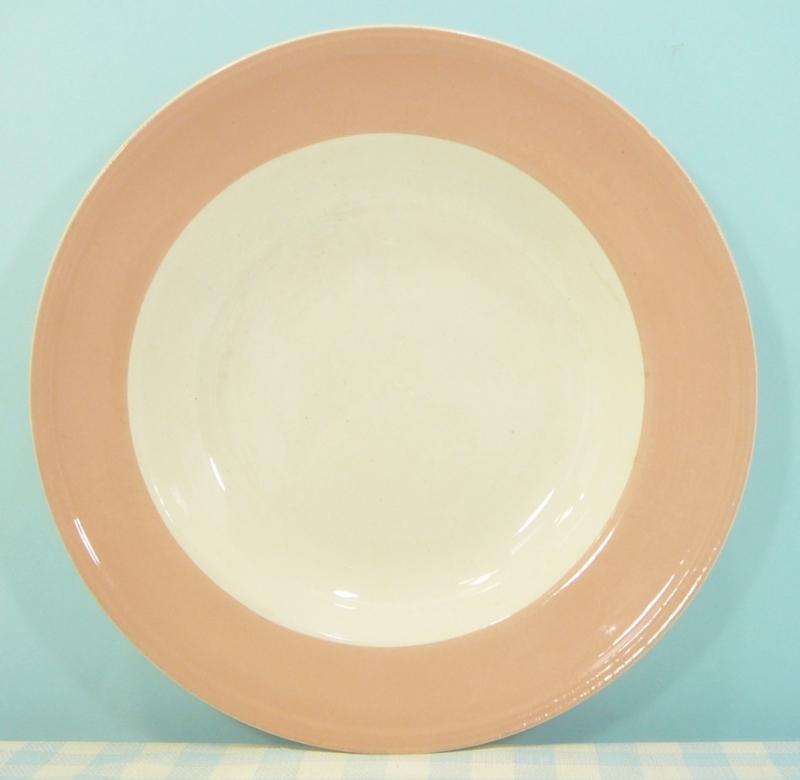 Boch Belgium - diep bord pastel donker peach 24 cm