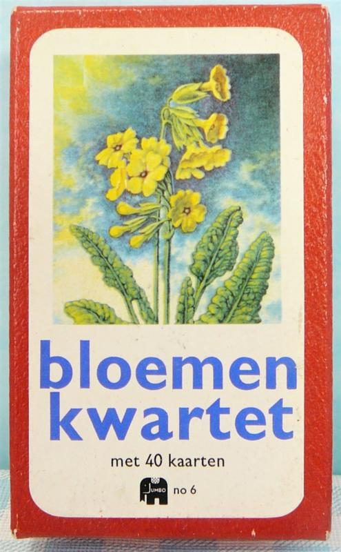 Vintage kwartet - Jumbo no. 6 Bloemenkwartet