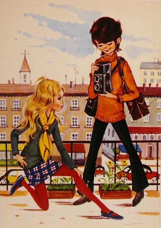 Jongen en fotomodel