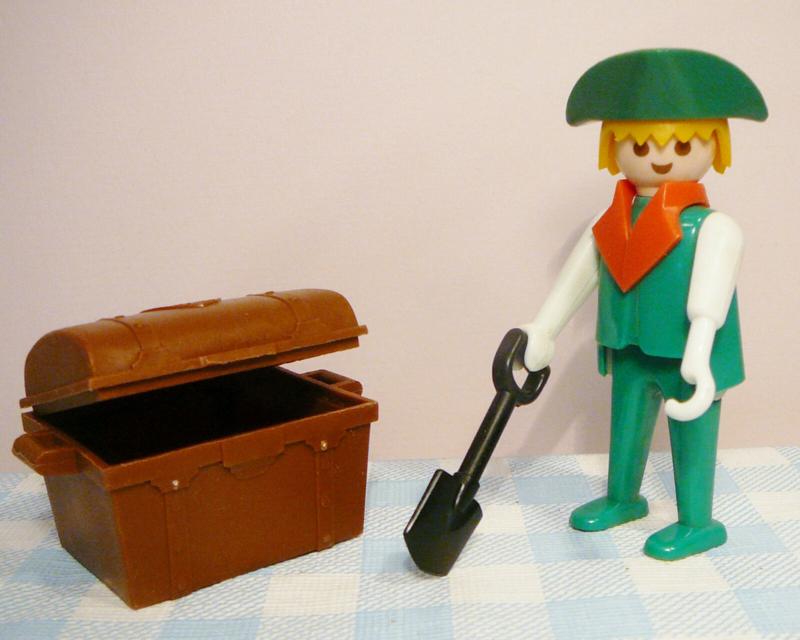 Vintage Playmobil piraten - groene piraat met haak 1978