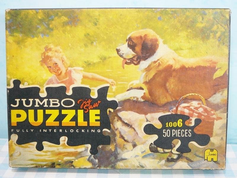 Jumbo puzzel 1006 Meisje met hond en picknick 2
