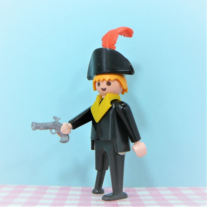 Vintage playmobil piraten - zwarte piraat houten poot
