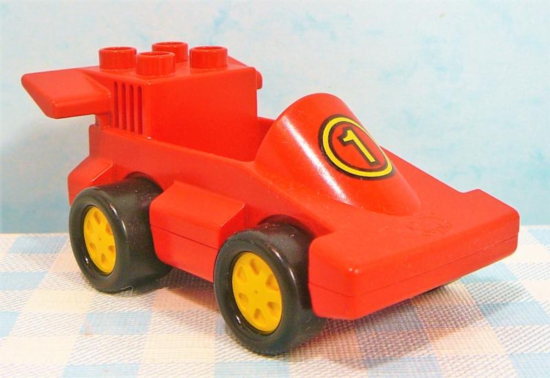 Vintage Lego Duplo figuur racewagen - Voertuigen